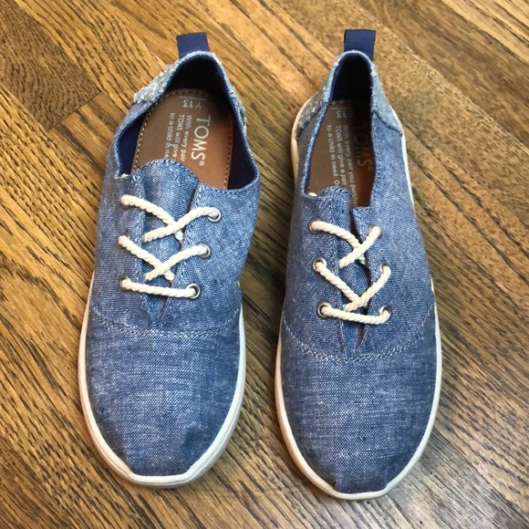 Toms Other - Toms Lumin Blue Slub Chambray New